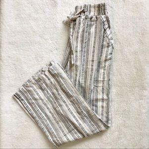 NWOT Sienna Sky White/Black Stripe Wide Leg Pants